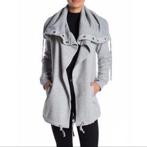 Blank NYC Funnel Neck Fleece Jacket